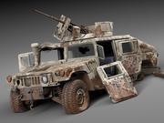 Hummer HMMWV destroyed 3d model