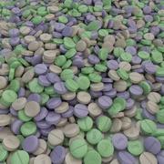 Medicine tablets 3d model