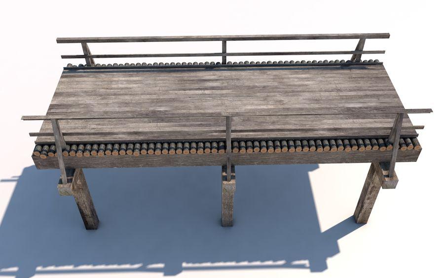 ponte de madeira royalty-free 3d model - Preview no. 2