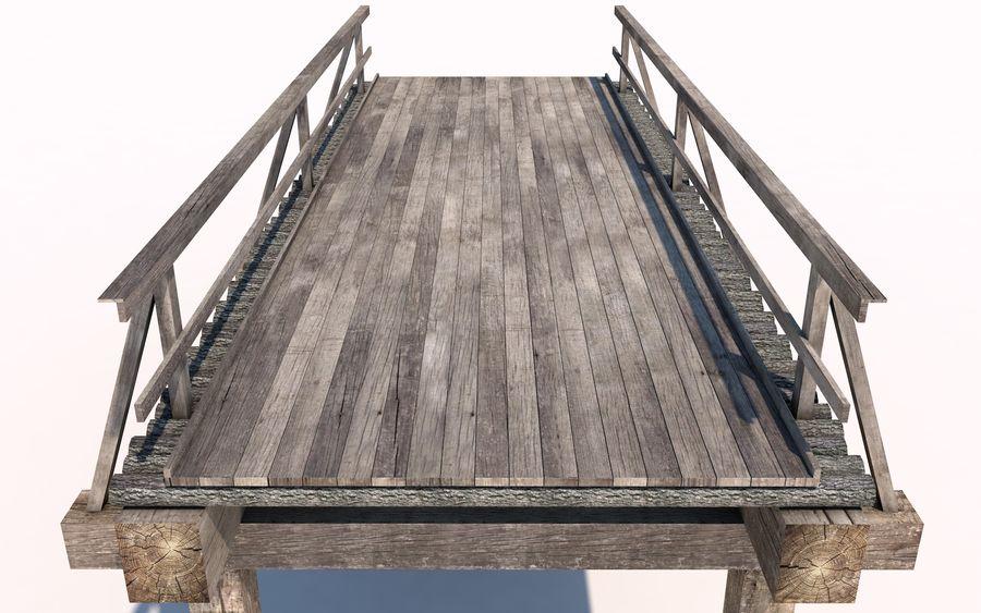 ponte de madeira royalty-free 3d model - Preview no. 4