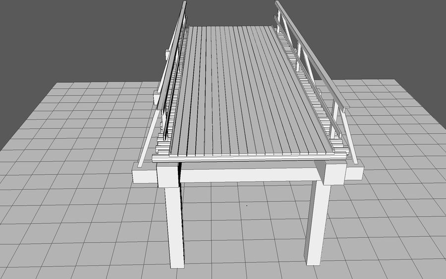 ponte de madeira royalty-free 3d model - Preview no. 8