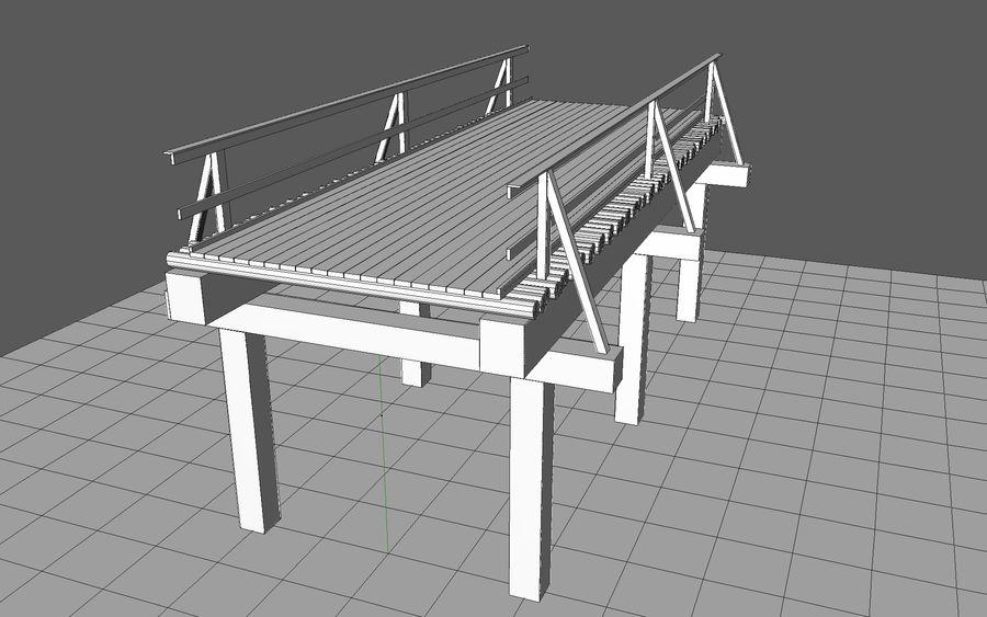 ponte de madeira royalty-free 3d model - Preview no. 7