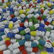 Medicine tablet capsule 3d model