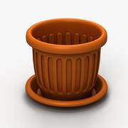 プラスチック植木鉢 3d model