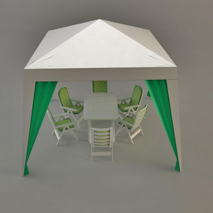 PavilionTerasa royalty-free 3d model - Preview no. 1