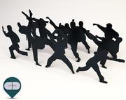 人々黒-パケット10 3d model