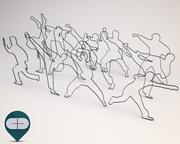 people silhouette - packet 10 3d model