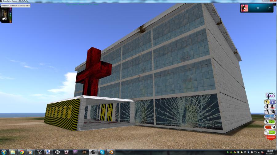 Hospital infestado de zumbis (sem mobília) royalty-free 3d model - Preview no. 1