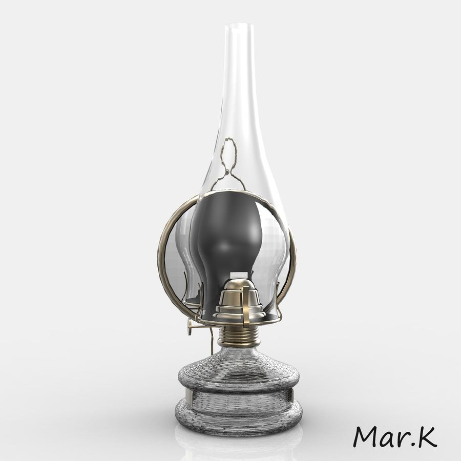 Kerosene lamp royalty-free 3d model - Preview no. 5