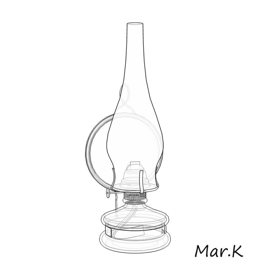 Kerosene lamp royalty-free 3d model - Preview no. 8