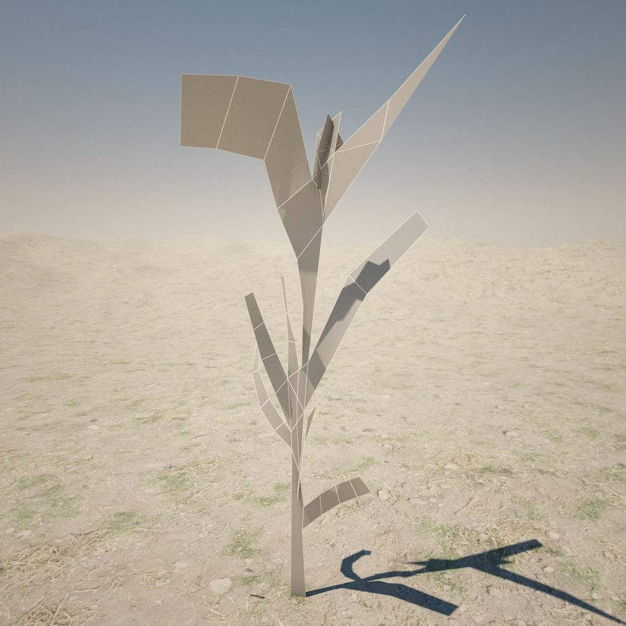 Small Plant royalty-free 3d model - Preview no. 4