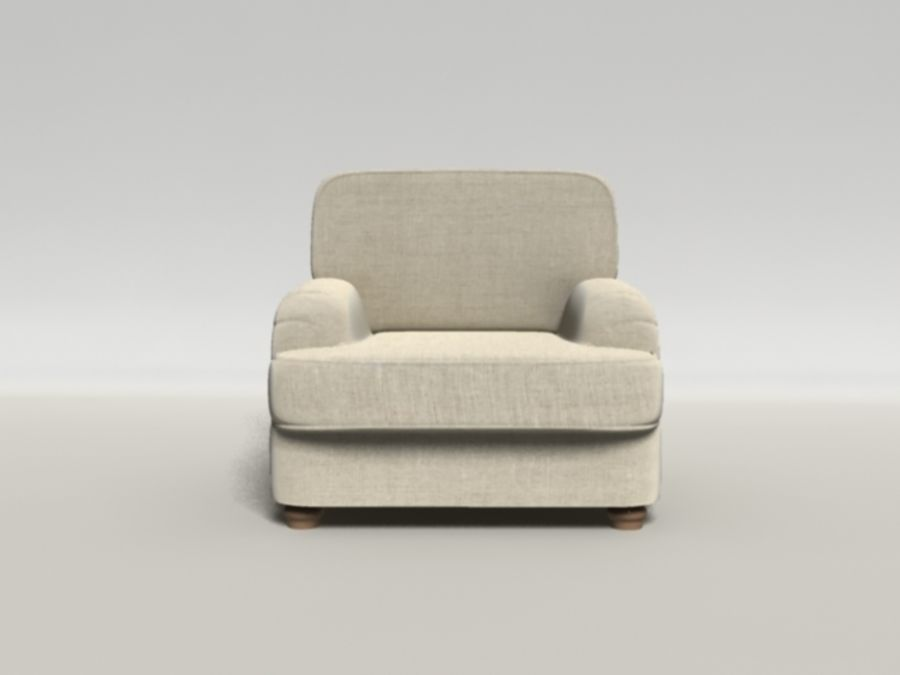 Notting Hill chair royalty-free 3d model - Preview no. 4