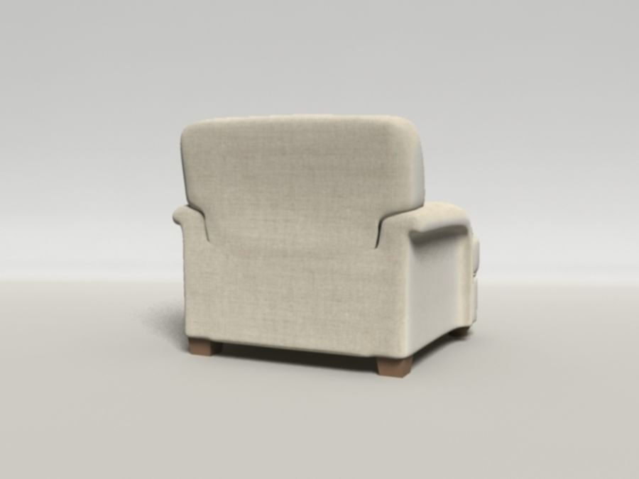 Notting Hill chair royalty-free 3d model - Preview no. 3