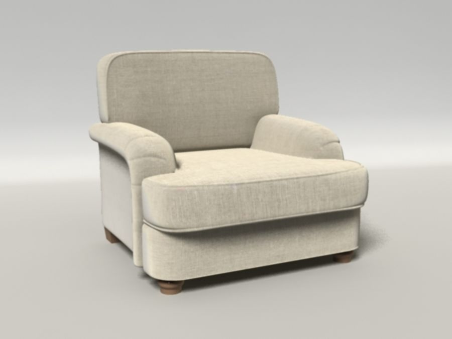 Notting Hill chair royalty-free 3d model - Preview no. 1