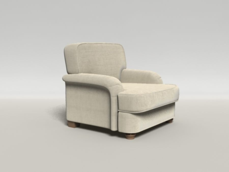 Notting Hill chair royalty-free 3d model - Preview no. 2