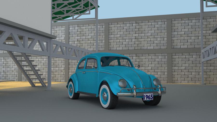VW Beetle 1965 royalty-free 3d model - Preview no. 6