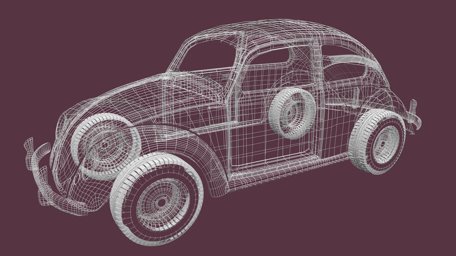 VW Beetle 1965 royalty-free modelo 3d - Preview no. 2