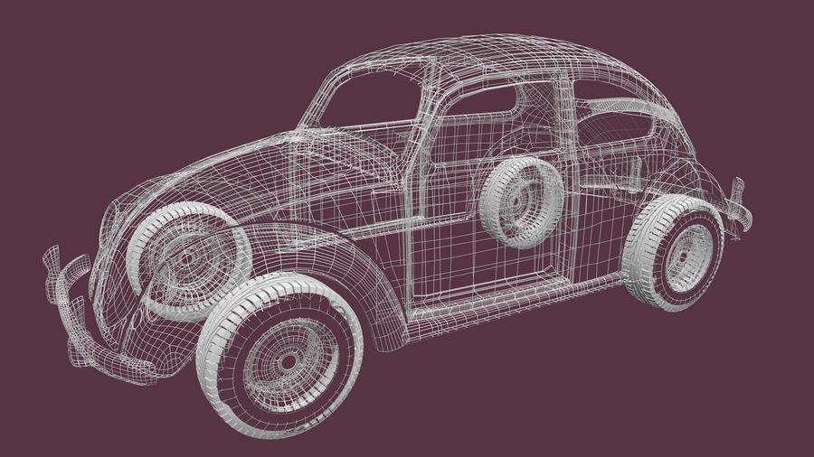 VW Beetle 1965 royalty-free 3d model - Preview no. 2