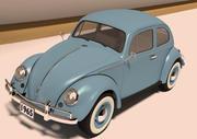 VW Beetle 1965 3d model