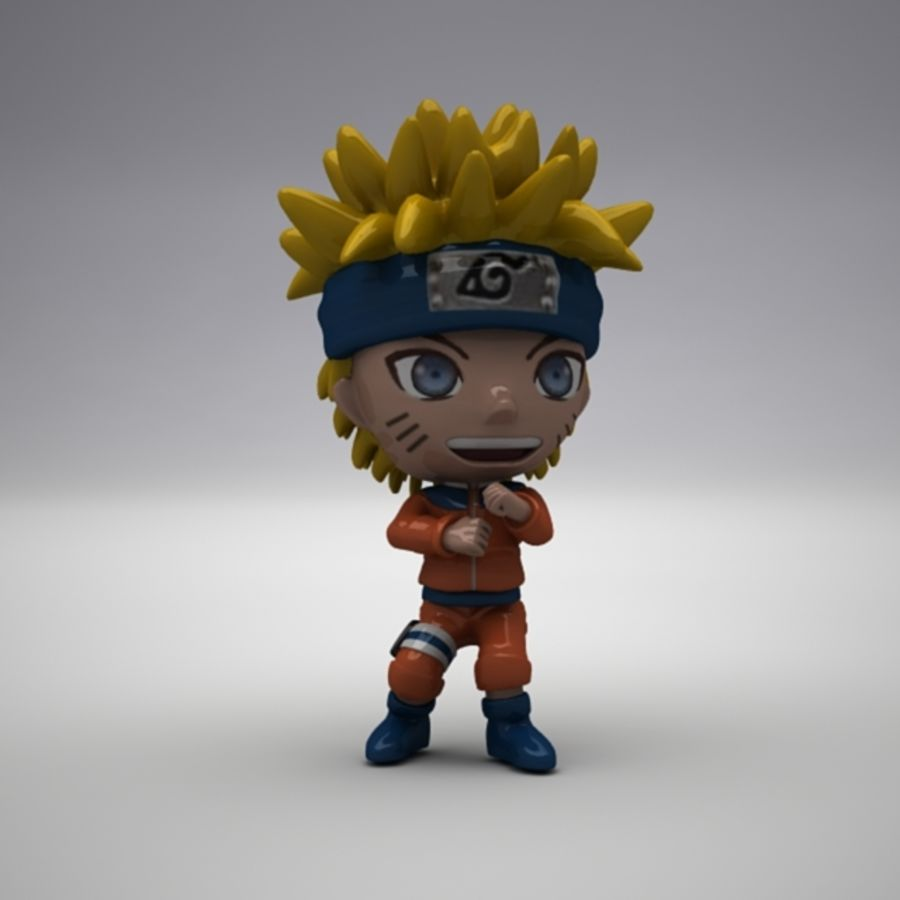 Naruto Uzumaki royalty-free 3d model - Preview no. 3