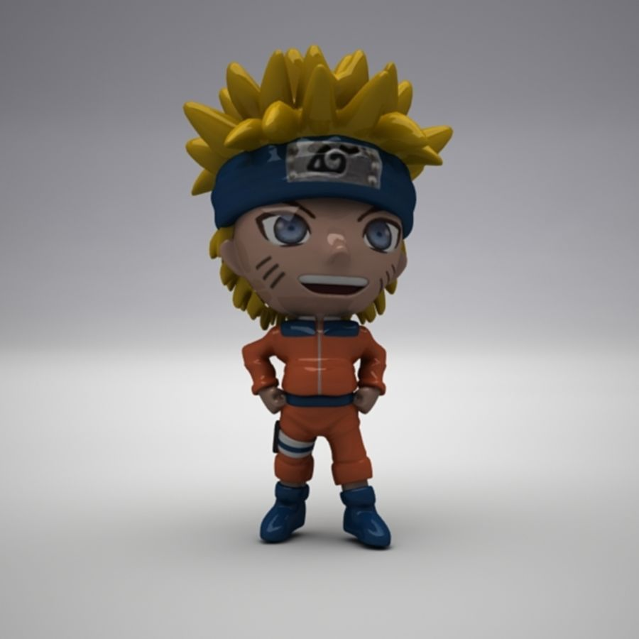 Naruto Uzumaki royalty-free 3d model - Preview no. 5