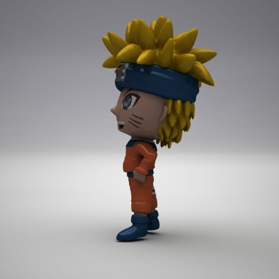 Naruto Uzumaki royalty-free 3d model - Preview no. 8