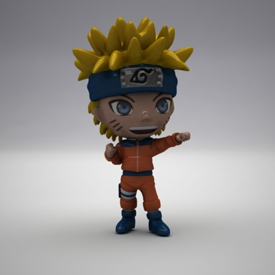 Naruto Uzumaki royalty-free 3d model - Preview no. 2
