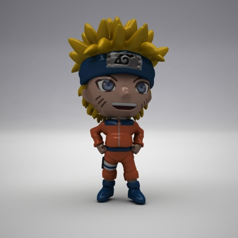 Naruto Uzumaki royalty-free 3d model - Preview no. 9
