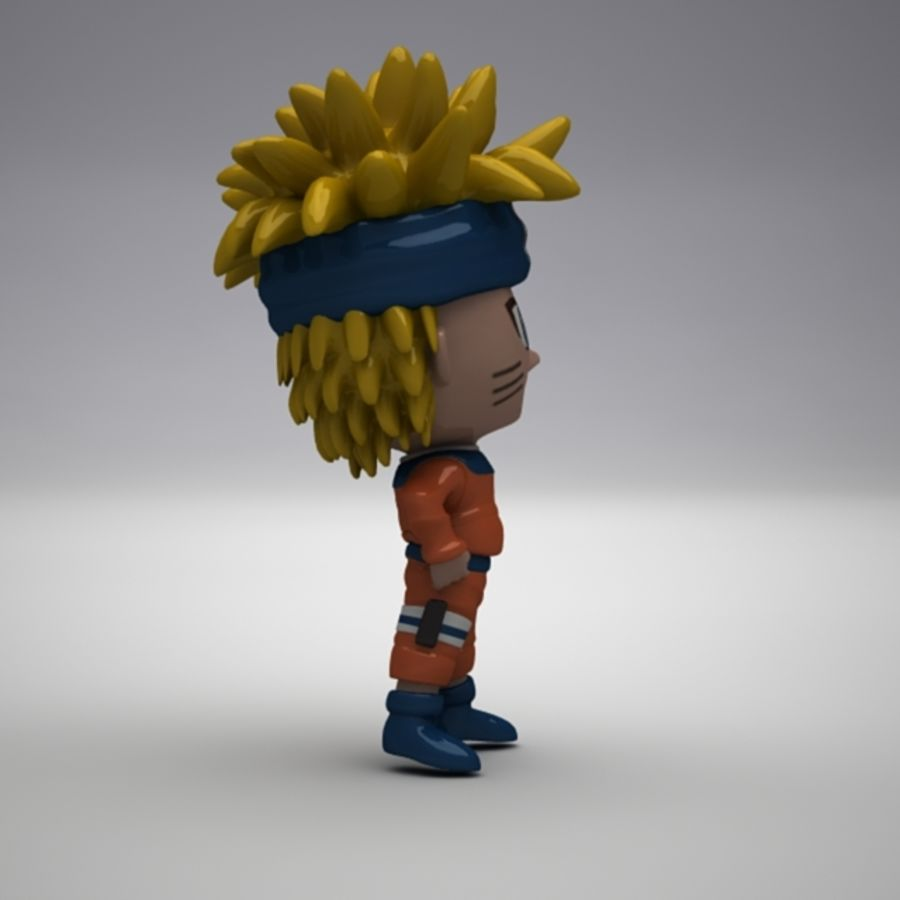 Naruto Uzumaki royalty-free 3d model - Preview no. 6
