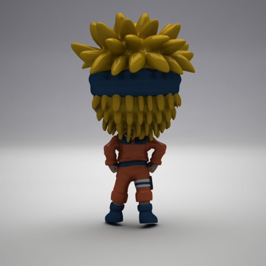 Naruto Uzumaki royalty-free 3d model - Preview no. 7