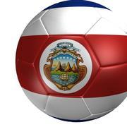 サッカーボールコスタリカフラグ 3d model
