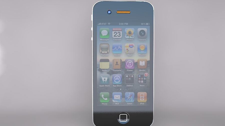 Iphone royalty-free 3d model - Preview no. 1