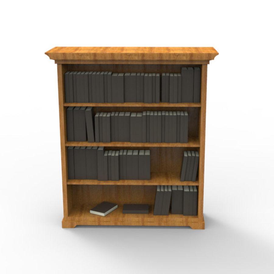 Bücherregal mit Büchern 3D-Modell $16 - .unknown .obj .max ...
