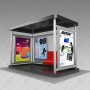 Busshållplats V1 3d model