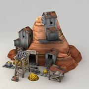 Mina de ouro Lowpoly 3d model