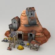 Lowpoly Gold Mine 3d model