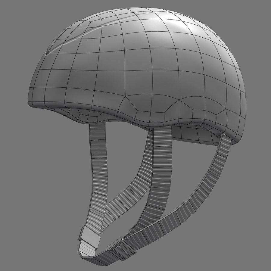Bicycle Helmet royalty-free 3d model - Preview no. 9
