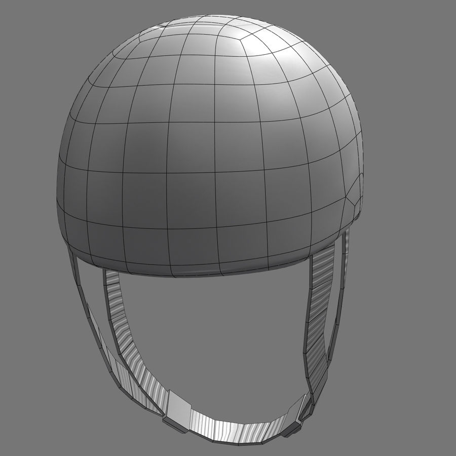 Bicycle Helmet royalty-free 3d model - Preview no. 11