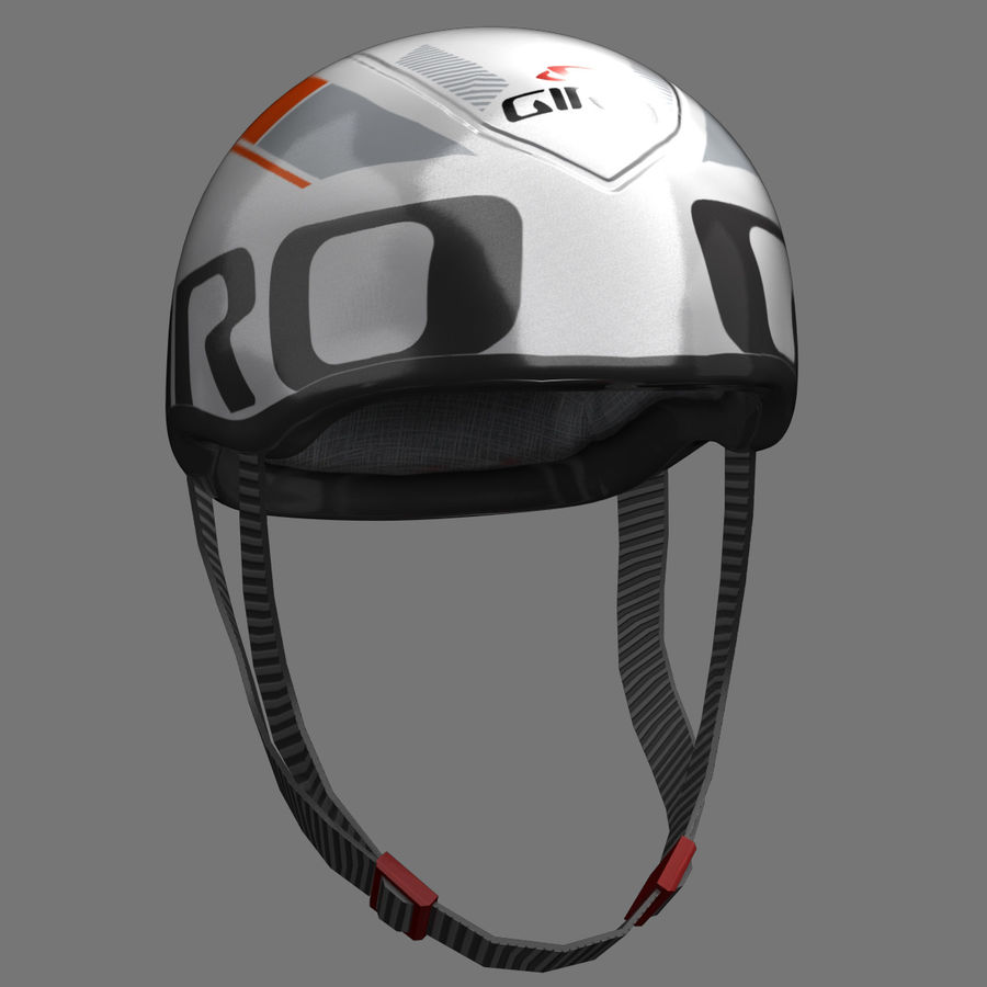Bicycle Helmet royalty-free 3d model - Preview no. 7
