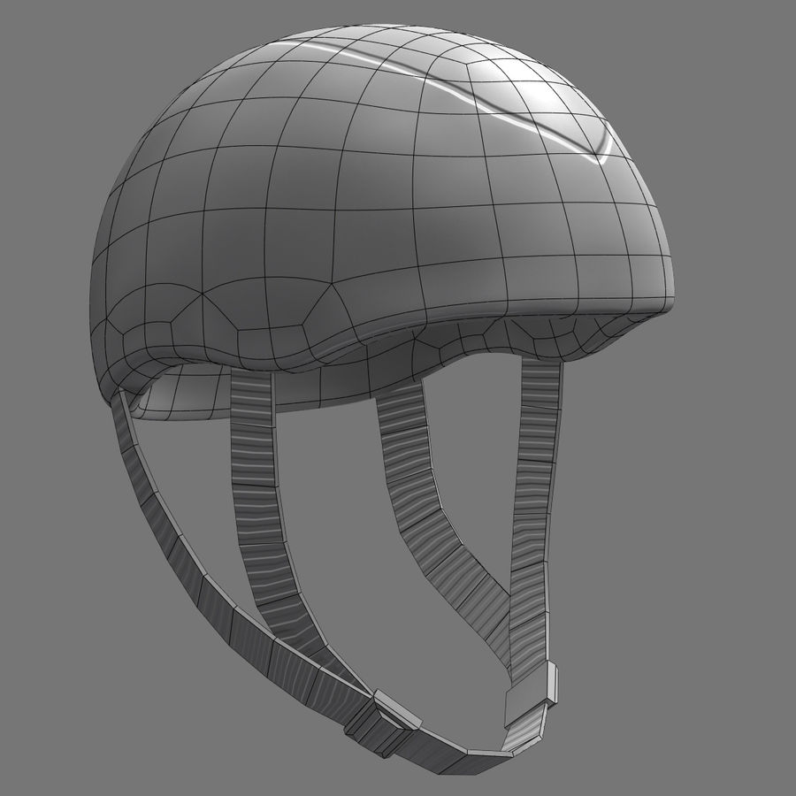 Bicycle Helmet royalty-free 3d model - Preview no. 13