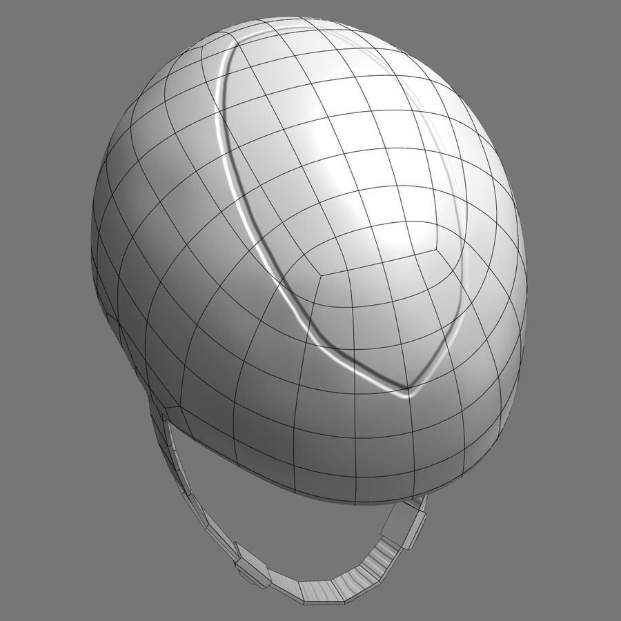 Bicycle Helmet royalty-free 3d model - Preview no. 12
