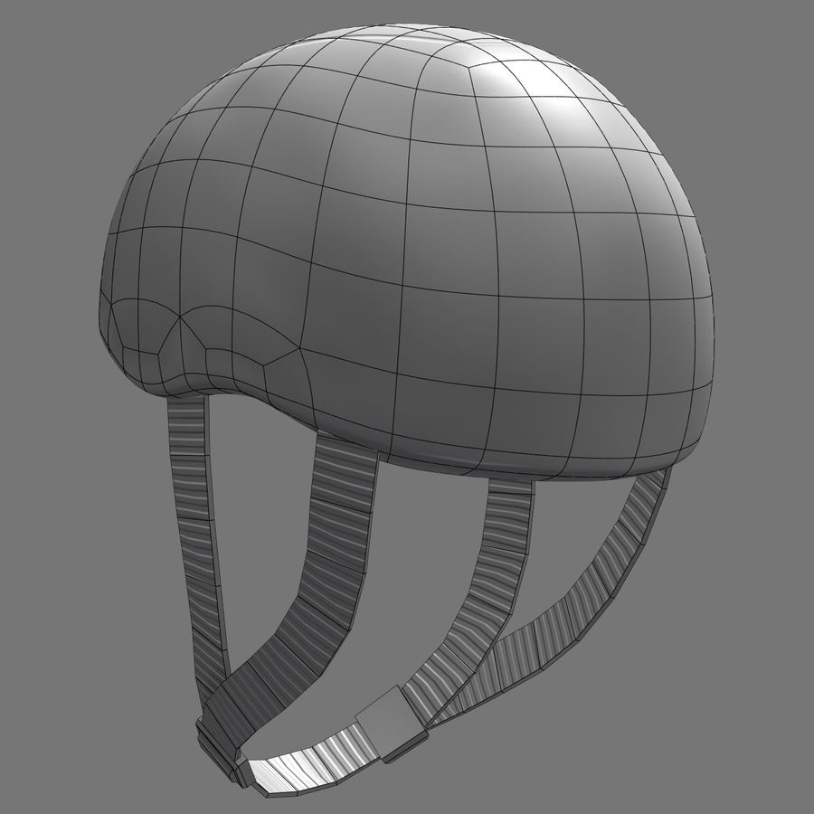 Bicycle Helmet royalty-free 3d model - Preview no. 10