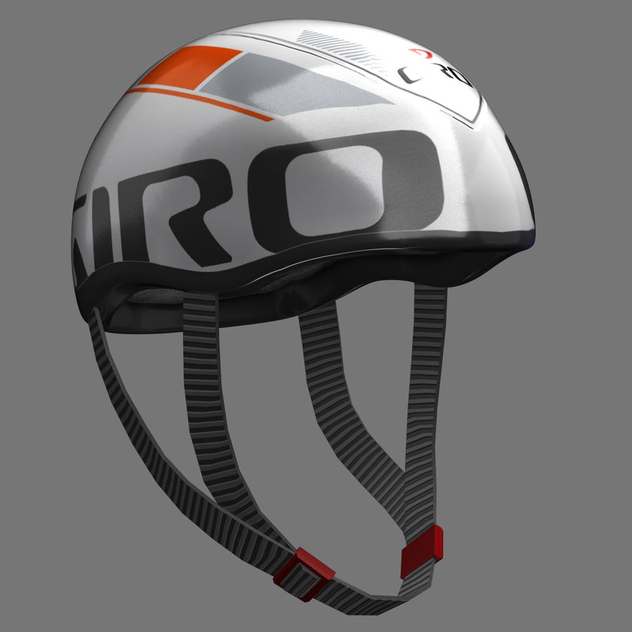 Bicycle Helmet royalty-free 3d model - Preview no. 6
