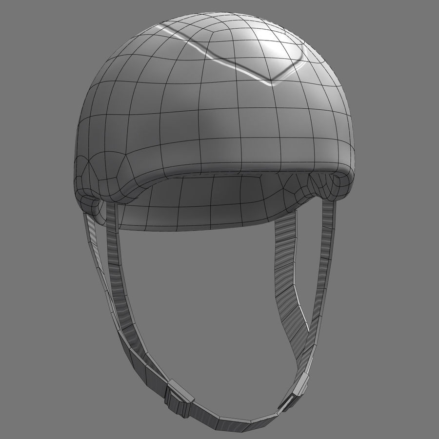 Bicycle Helmet royalty-free 3d model - Preview no. 14