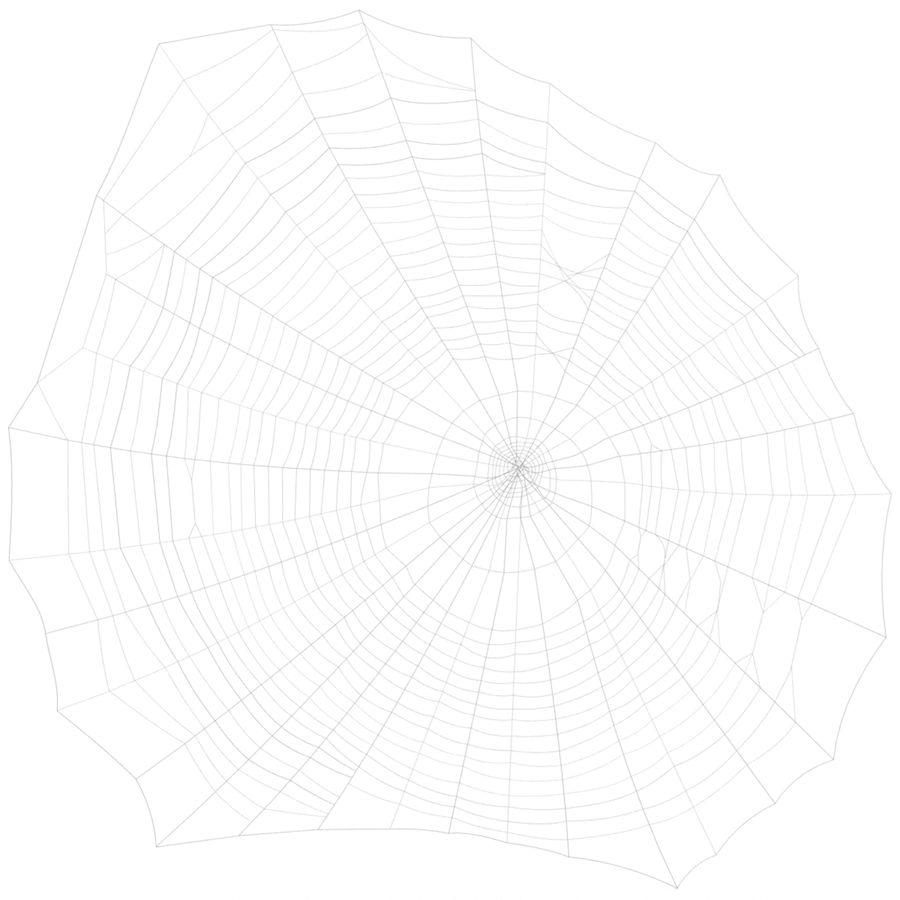 Teia de aranha royalty-free 3d model - Preview no. 3