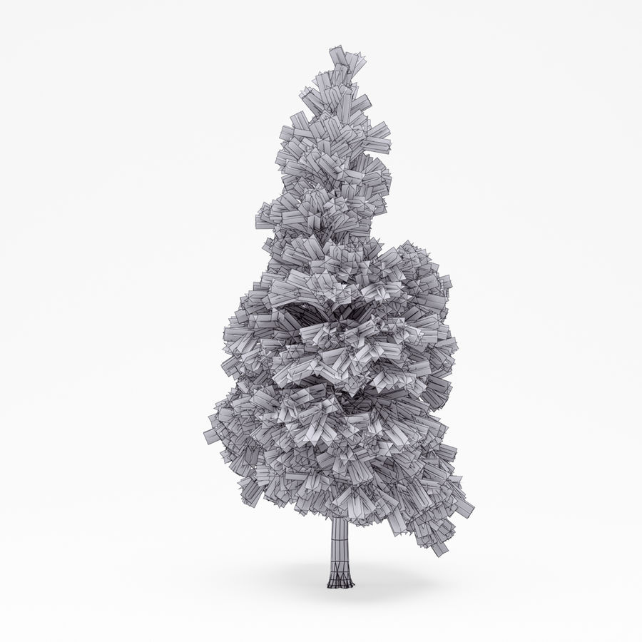 Conifer 022 royalty-free 3d model - Preview no. 5