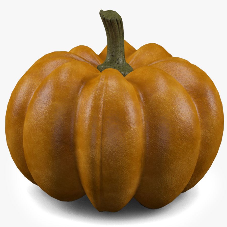 Pumpkin royalty-free 3d model - Preview no. 2
