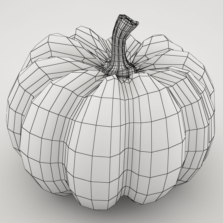 Pumpkin royalty-free 3d model - Preview no. 7