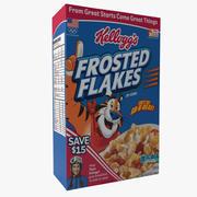 Scatola di cereali con fiocchi glassati 3d model