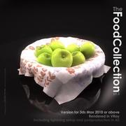 Mand met appels 3d model